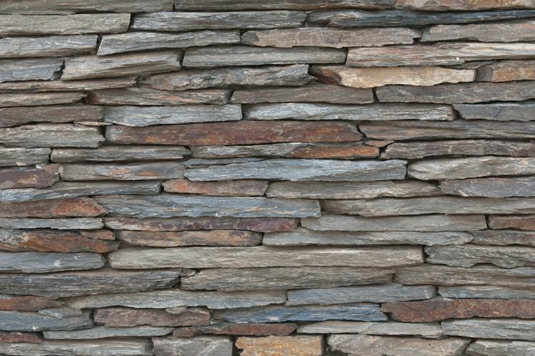 geschnitten stein einseitig