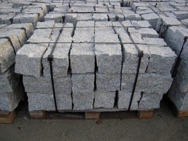 kamień murowy z granitu szary